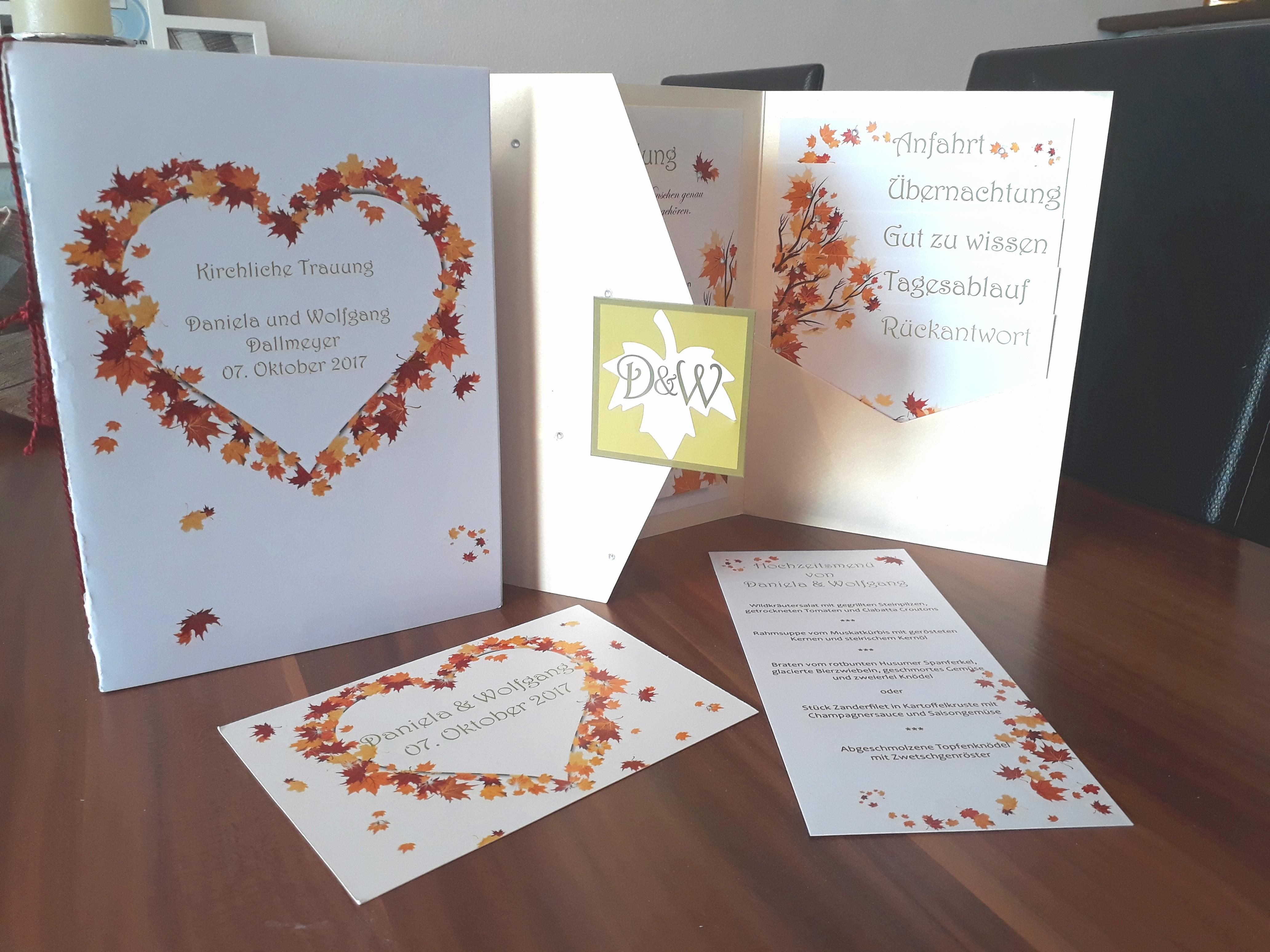 Hochzeitskarten Unser Augenblick